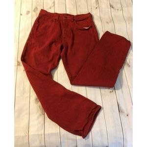 501 Levi's Jeans 32 x 32 Red Button Fly Straight